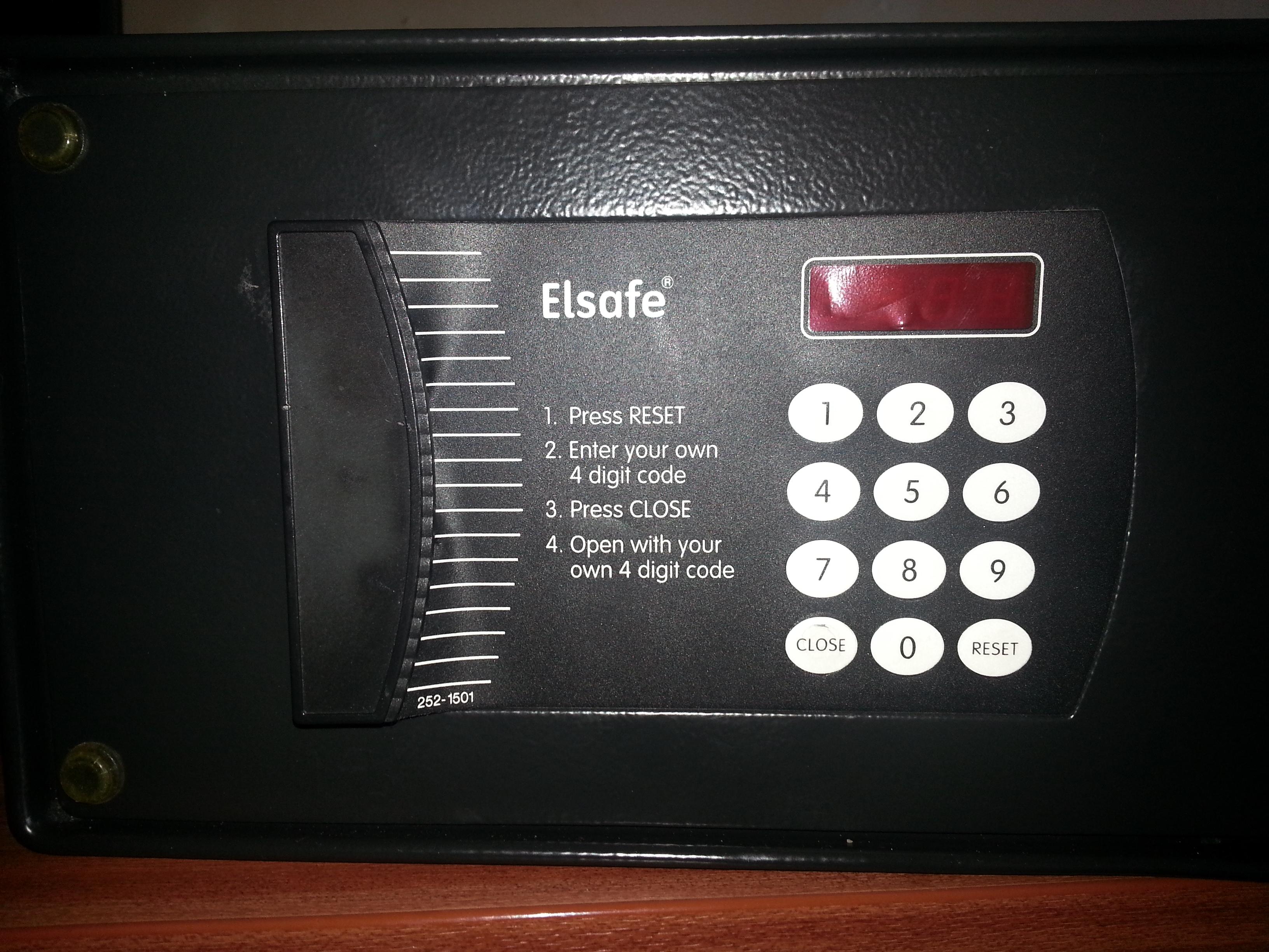 Elsafe Hotel Safe Opening - Paladin Safe Services