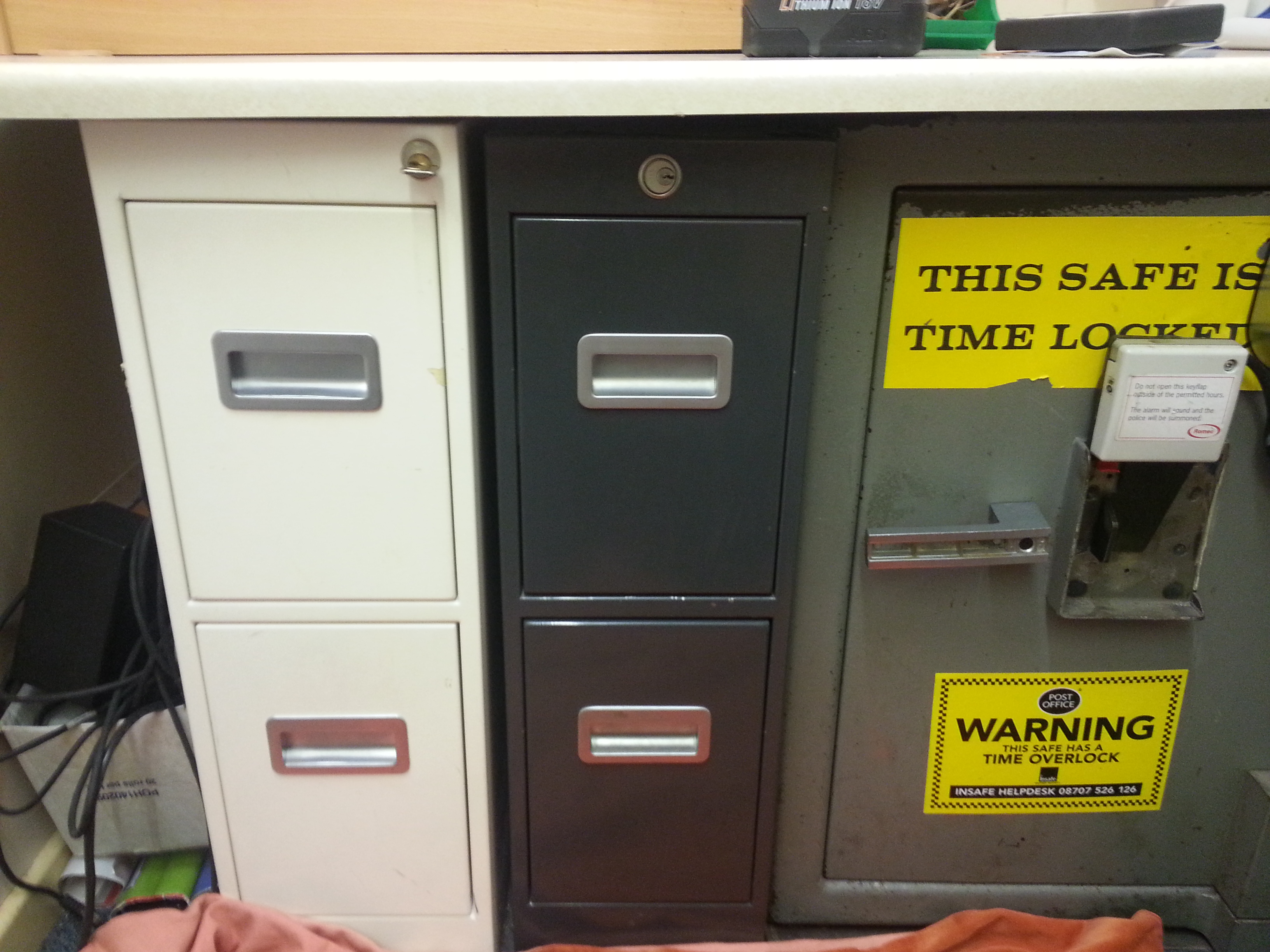 Post Office Keys Locked In Safe