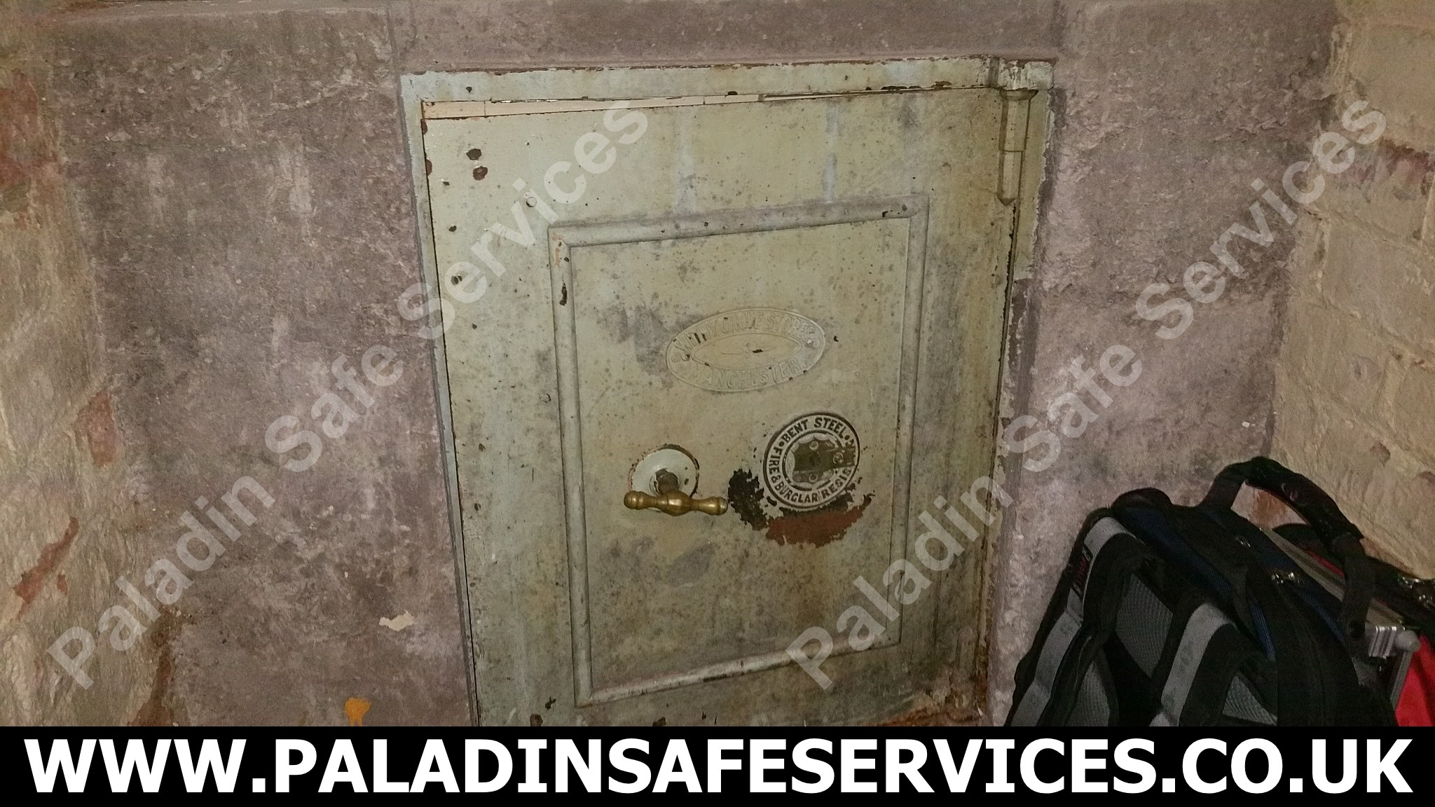 Bent Steel Fire & Burglar Resisting Safe Lost Keys