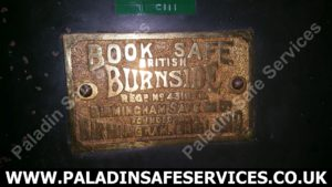Birmingham Safe Co Ltd Burnside Plaque
