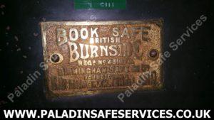 Birmingham Safe Co Ltd Burnside Plaque